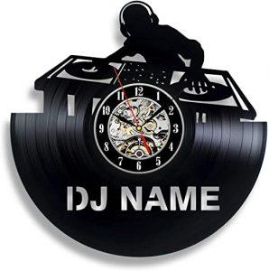 DJ Mixer Vinyl Record Wall Clock