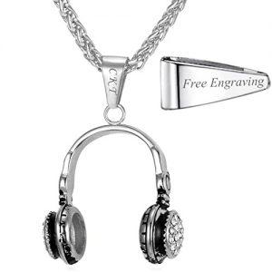 Personalized Headphone Pendant Necklace